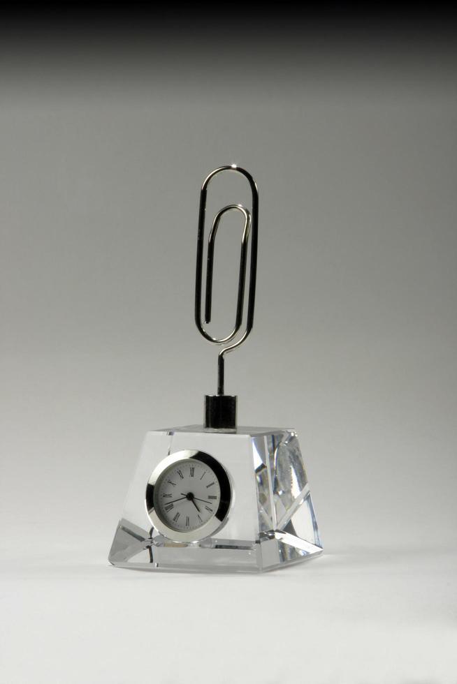Premio trofeo de cristal en blanco transparente de acrílico, cristal o vidrio foto
