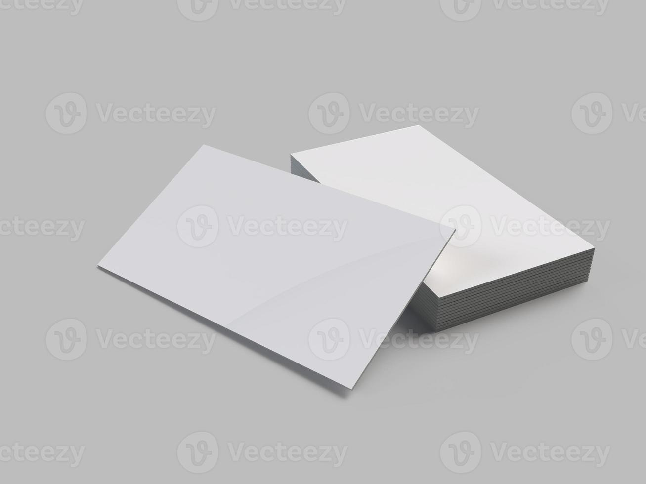 3D business card mock-up US 3.5 x 2 inch size photo