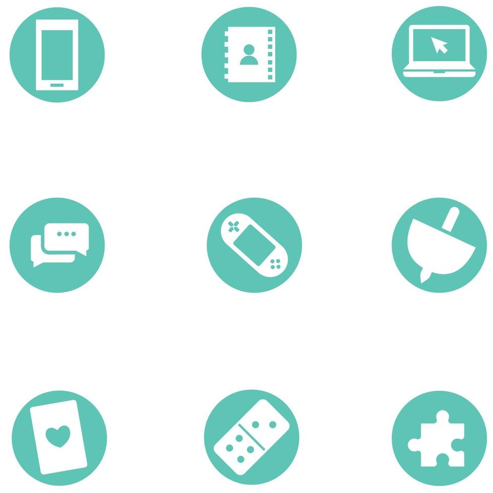 A collection of technology icon bundle vector