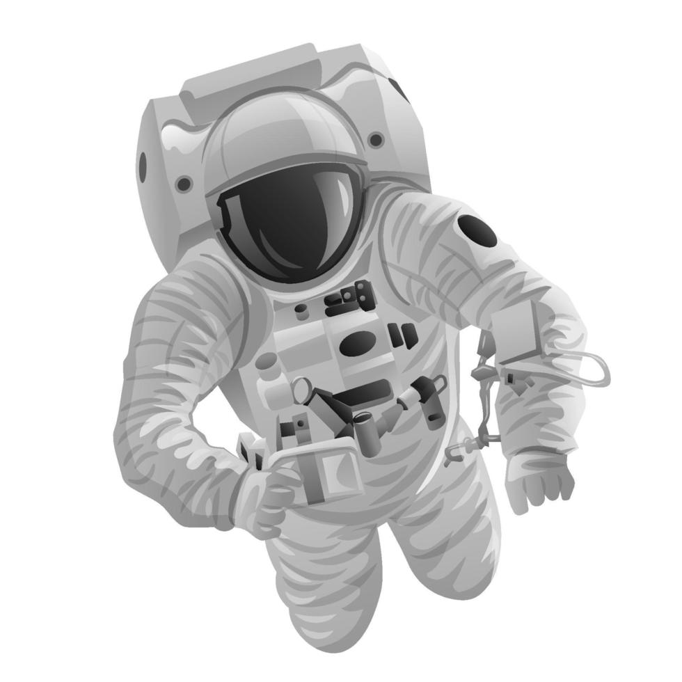 astronaut in the space vector