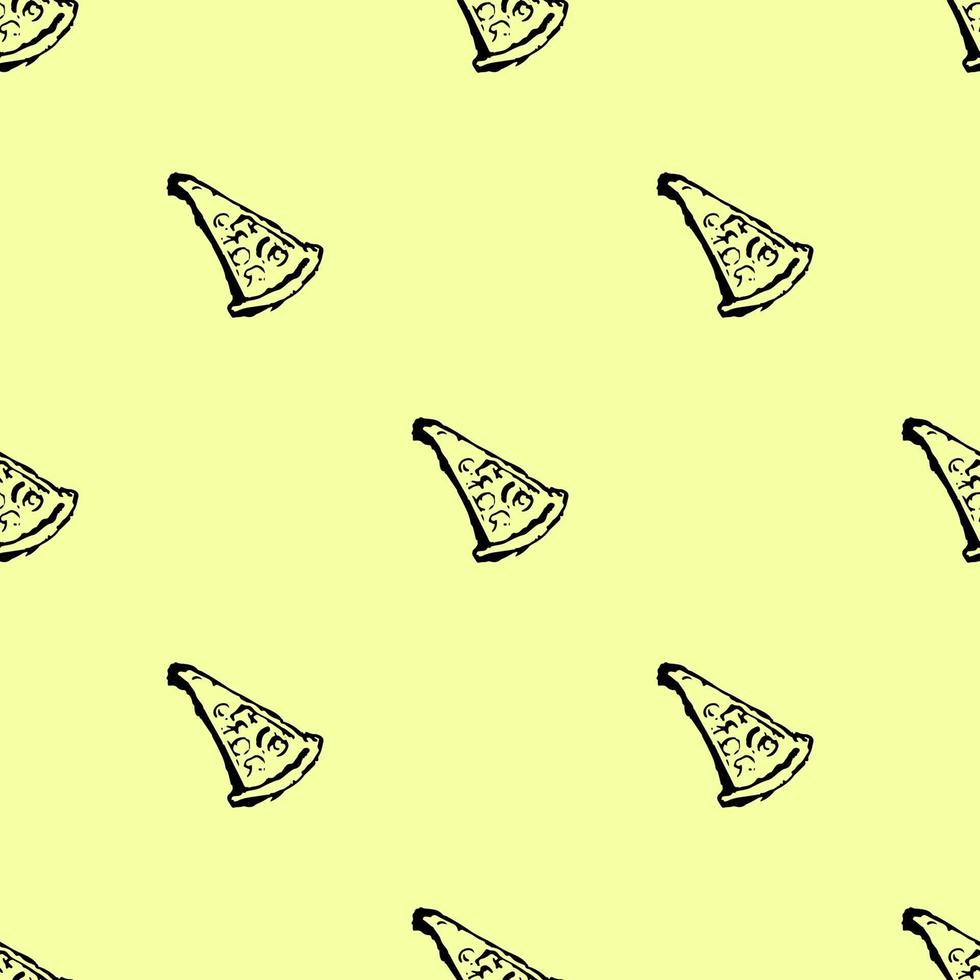 seamless pizza pattern. Doodle vector with pizza icons
