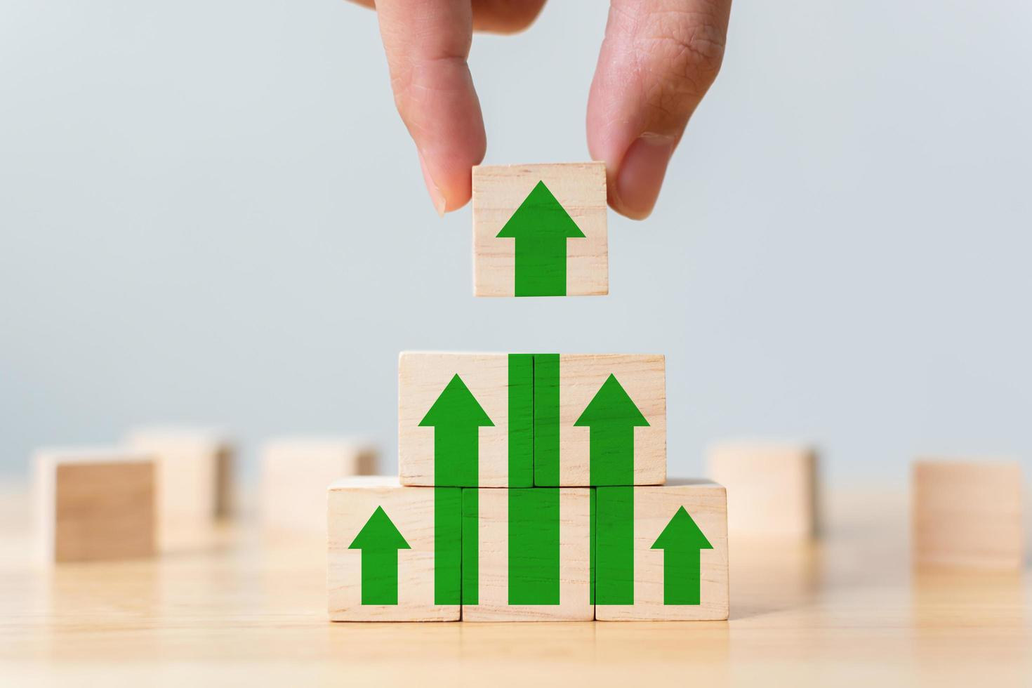 Ladder career path for business growth success process photo