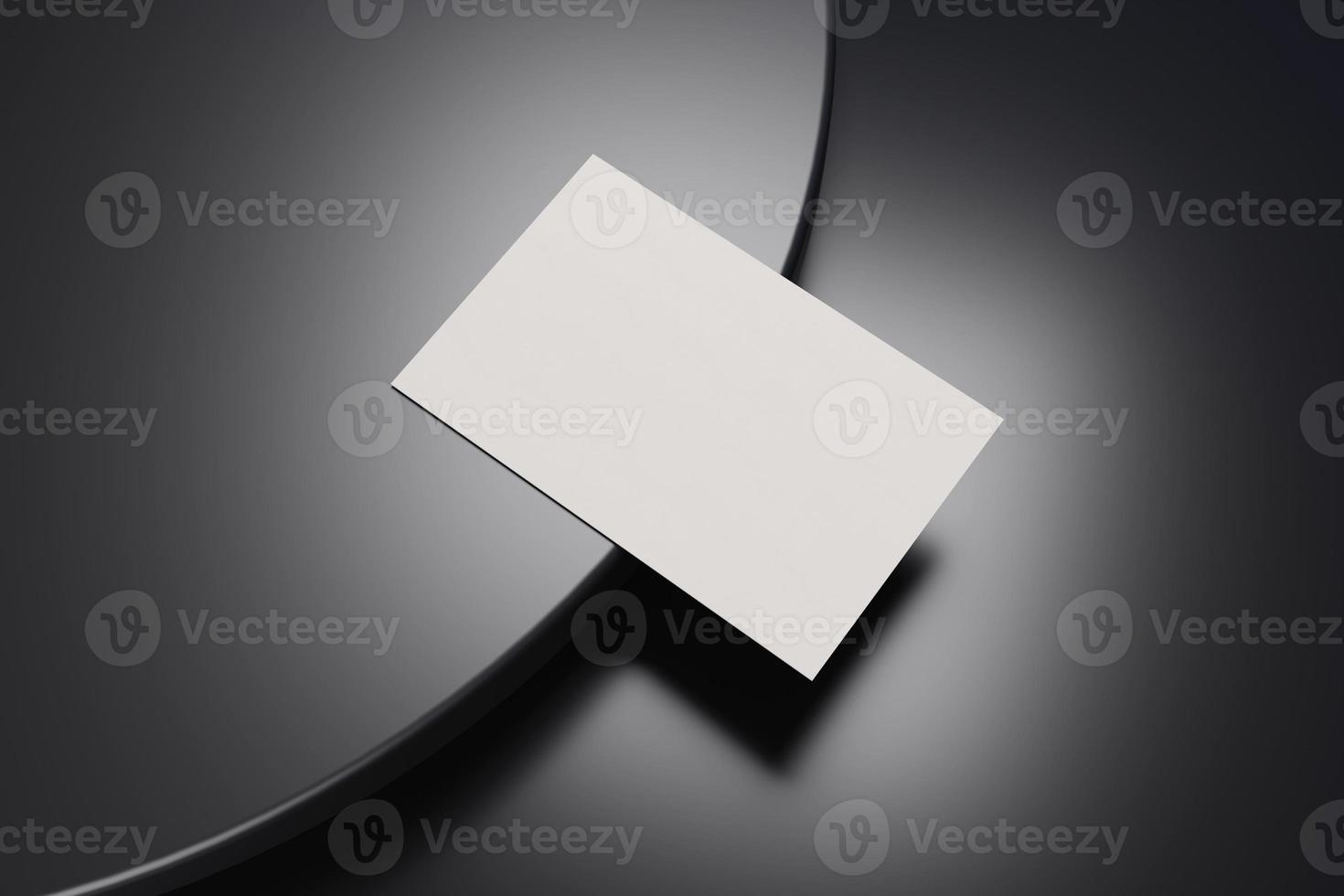 Black and white business card paper mockup template photo