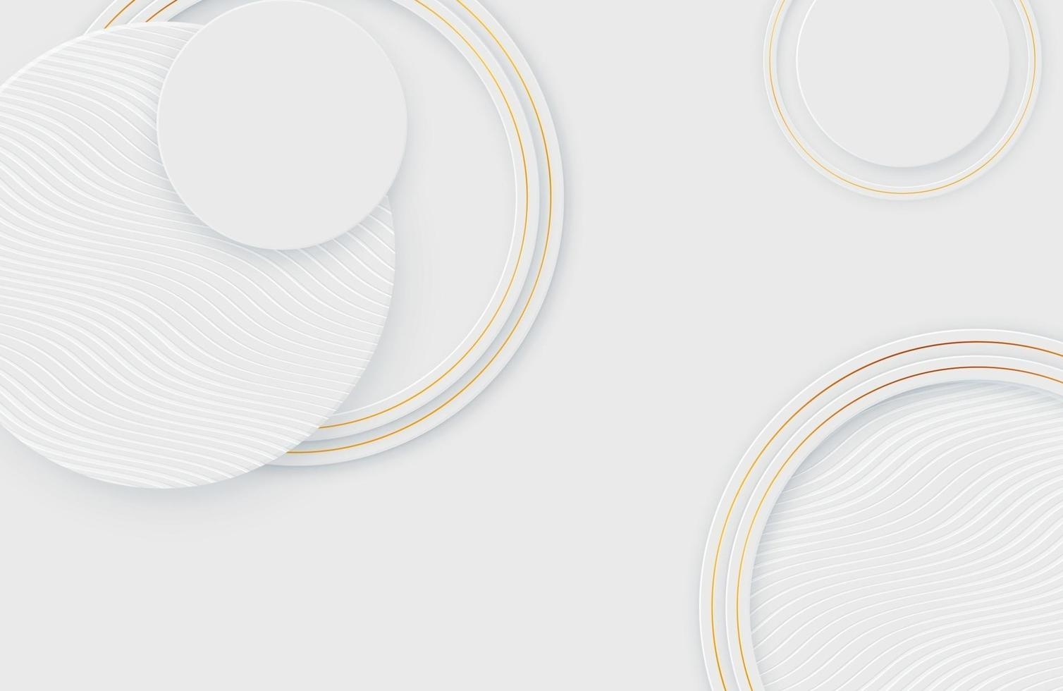 Modern minimal and clean white gold realistic background vector