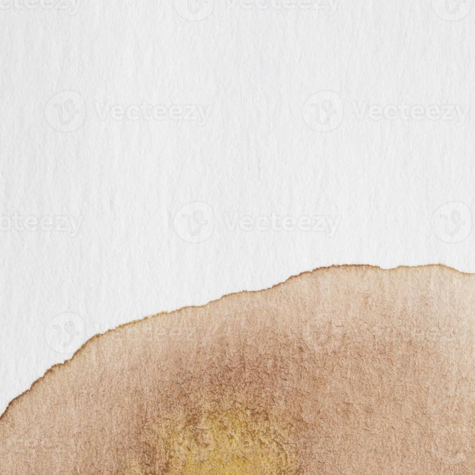 Fondo de acuarela abstracta con salpicaduras de color marrón foto