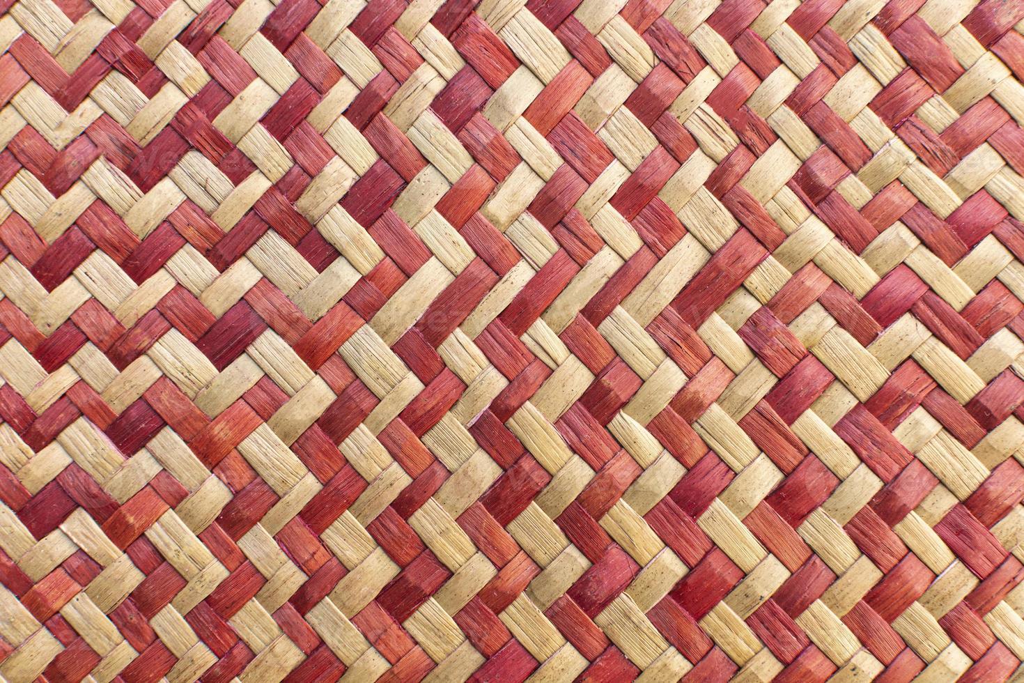 vista superior de un patrón de tejido foto