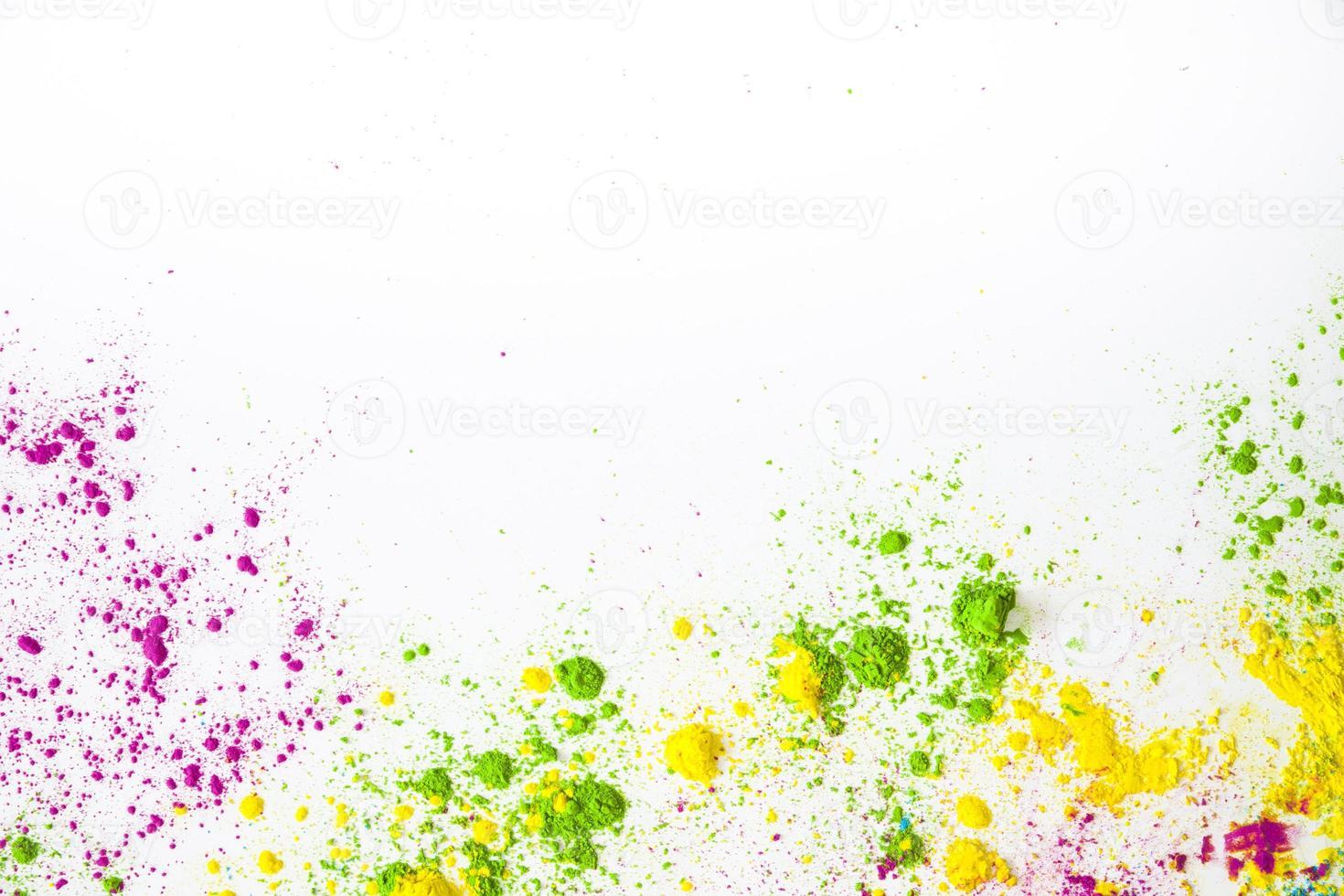 polvo de color, holi tarjetas de felicitación foto