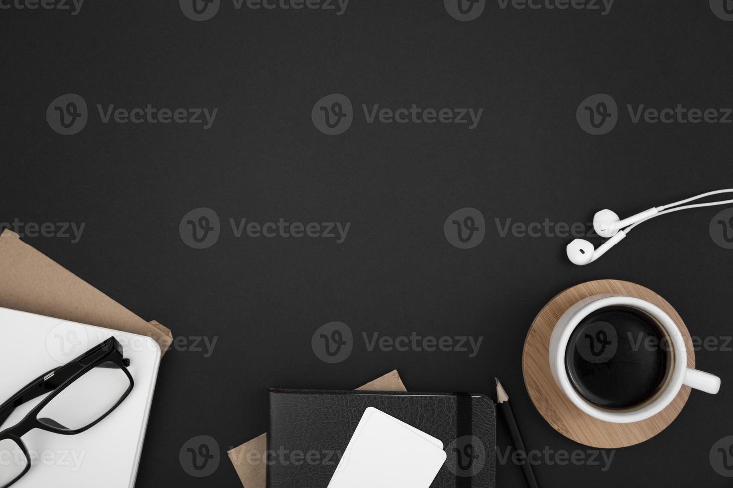 concepto de escritorio con espacio de copia foto