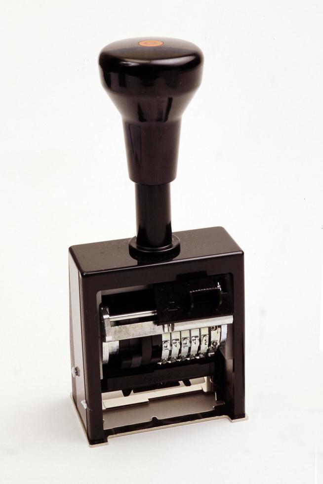 sello manual de goma foto