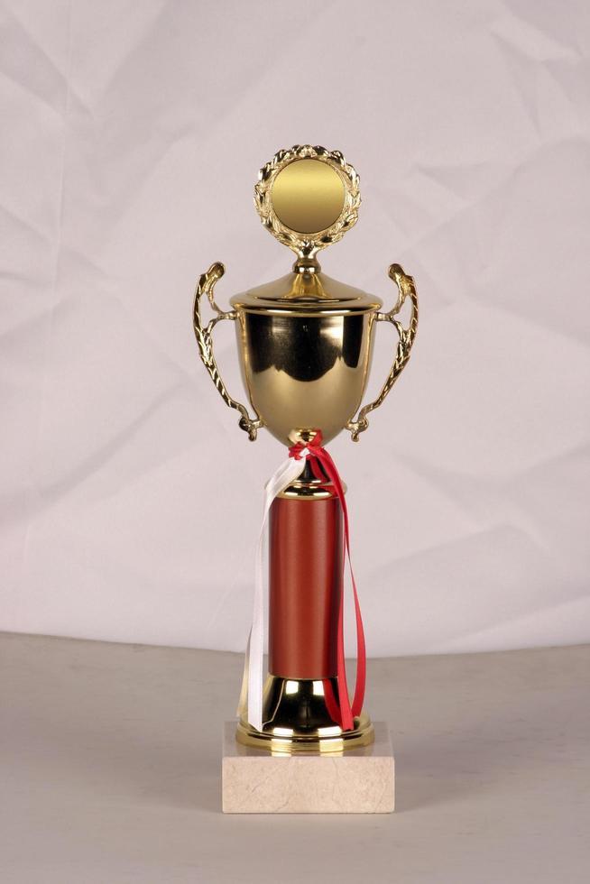 modelo de premio hecho de minas como bronce, plata o latón foto