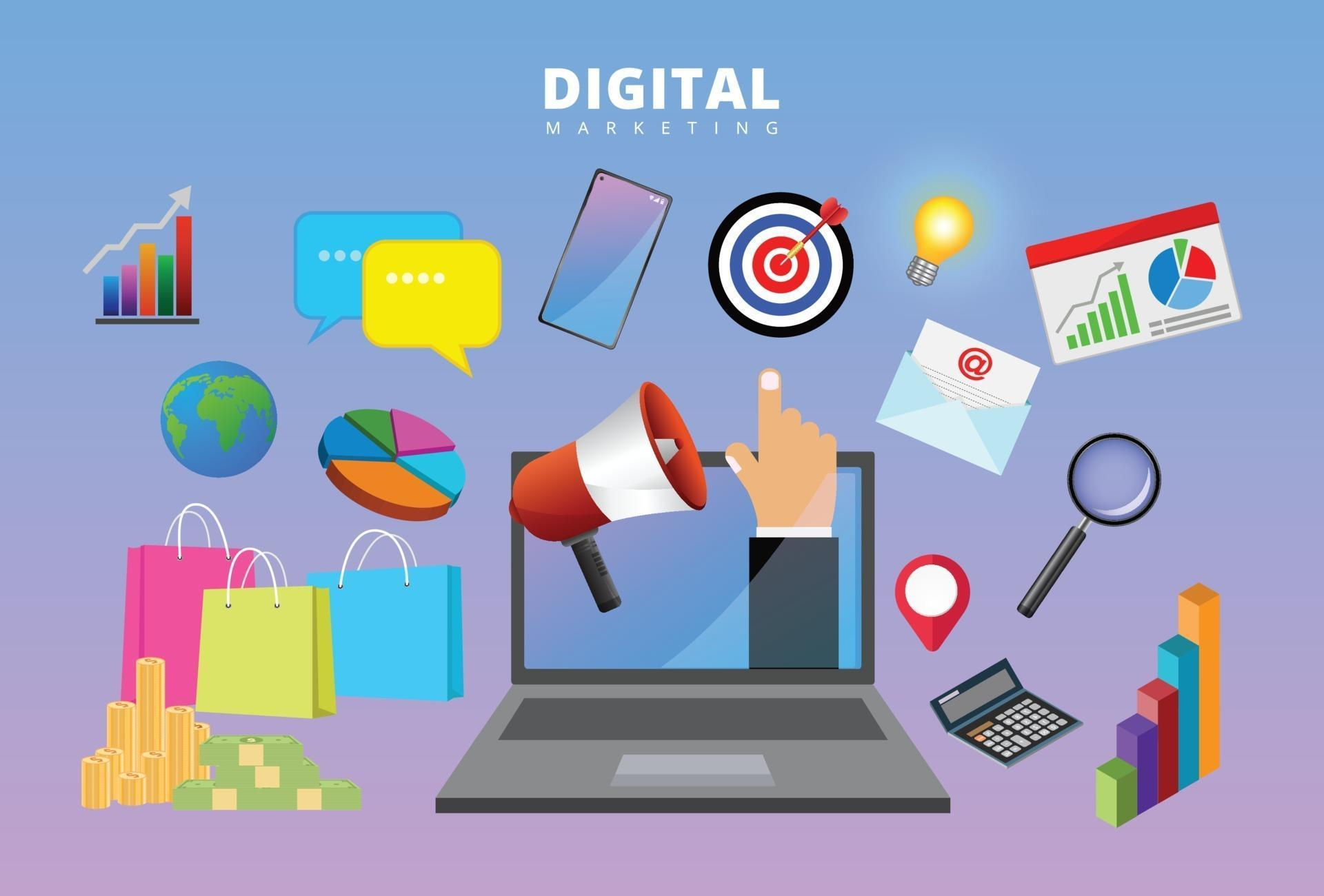 Digital Marketing Concept, Business Project Work, Search ...