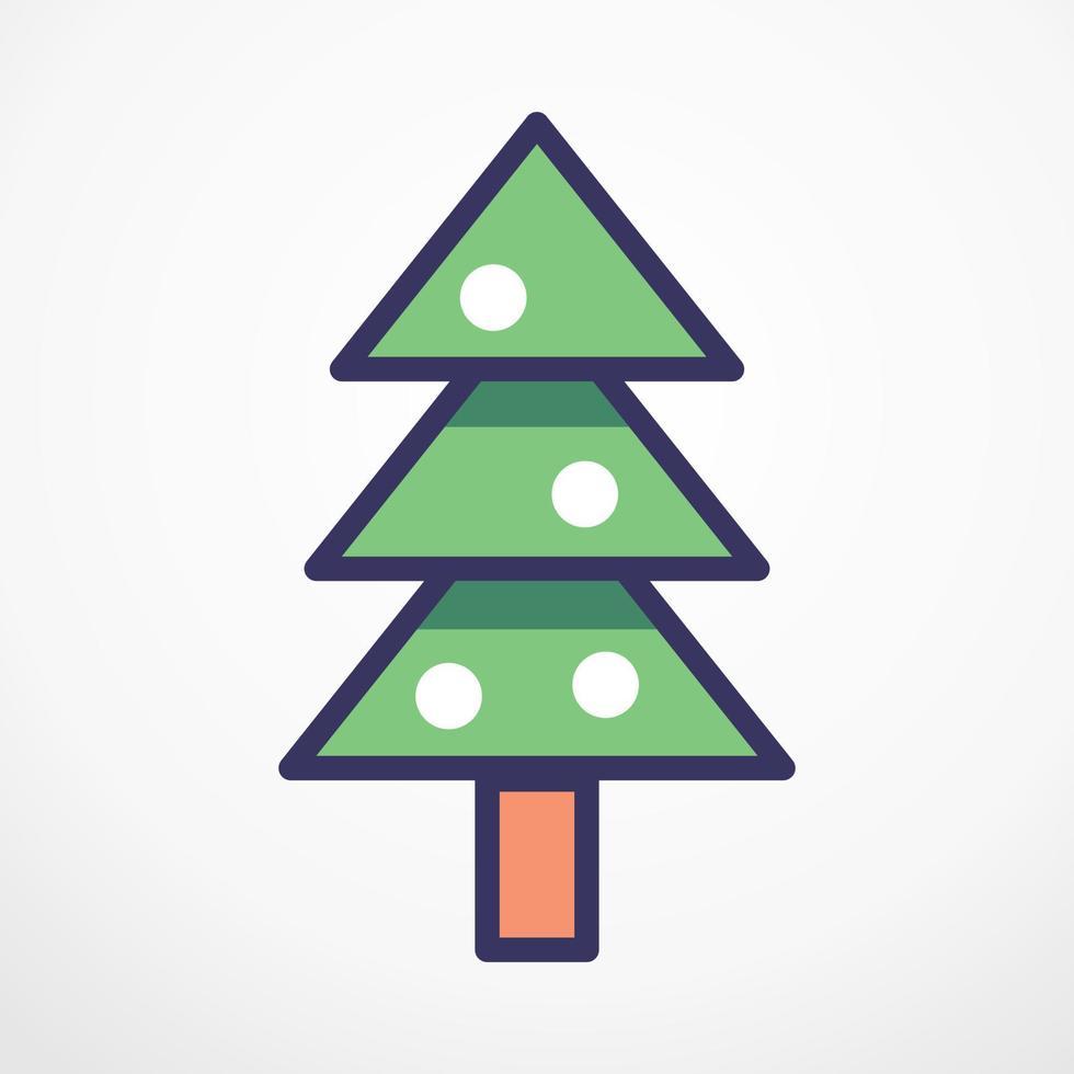 Christmas Tree flat line Vector illustration.