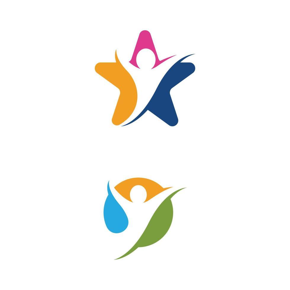 Human character logo sign vector