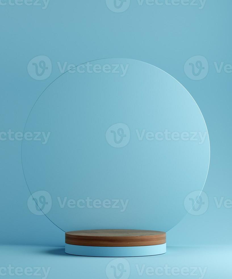Pedestal geométrico de la ilustración 3d para la presentación del producto. fondo abstracto. Bosquejo. foto