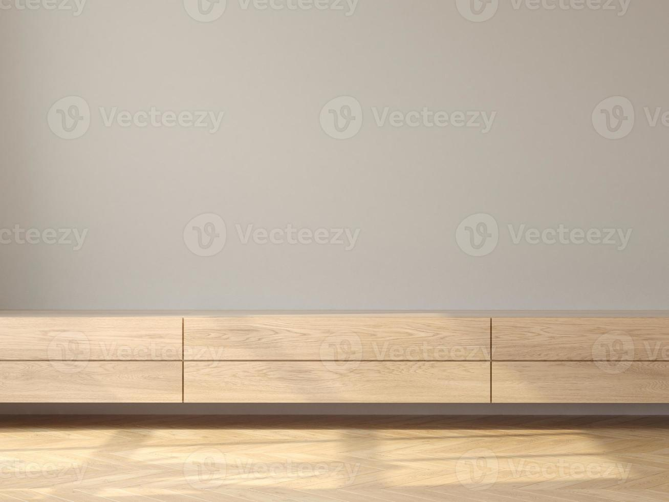 interior minimalista de la moderna sala de estar renderizado 3d foto