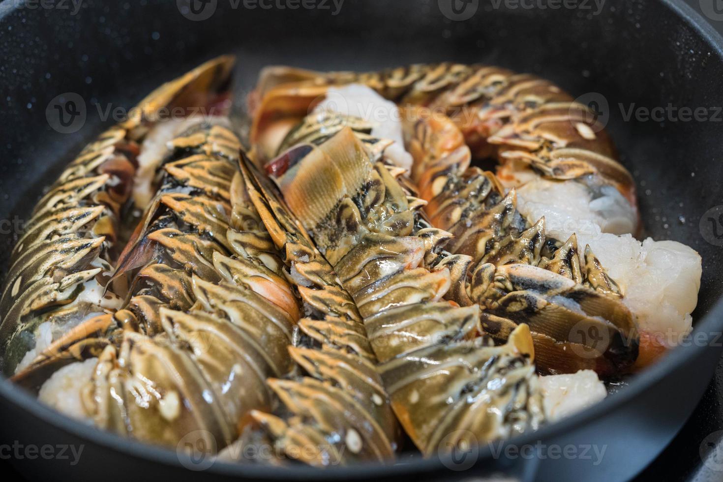 surf y césped con cangrejos o langosta foto