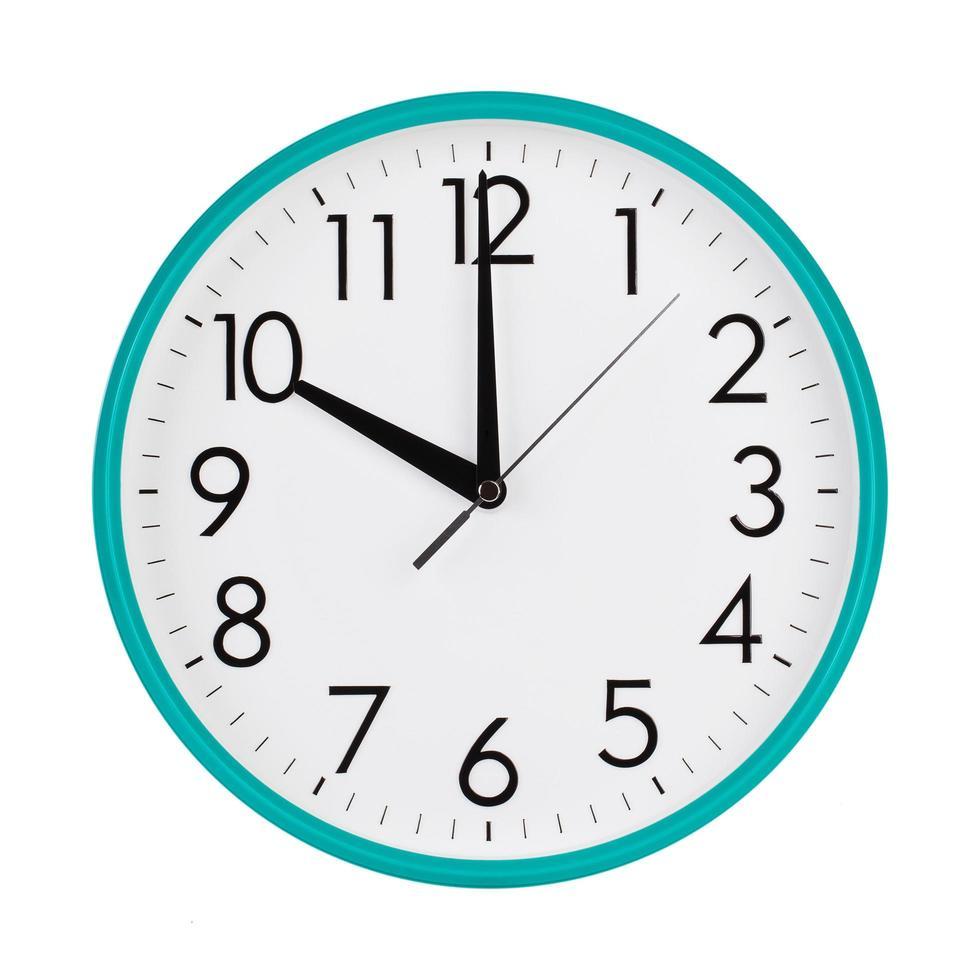 diez horas en una esfera de reloj foto