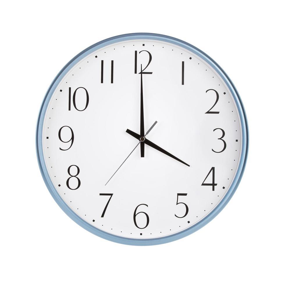 cuatro horas en el reloj redondo foto