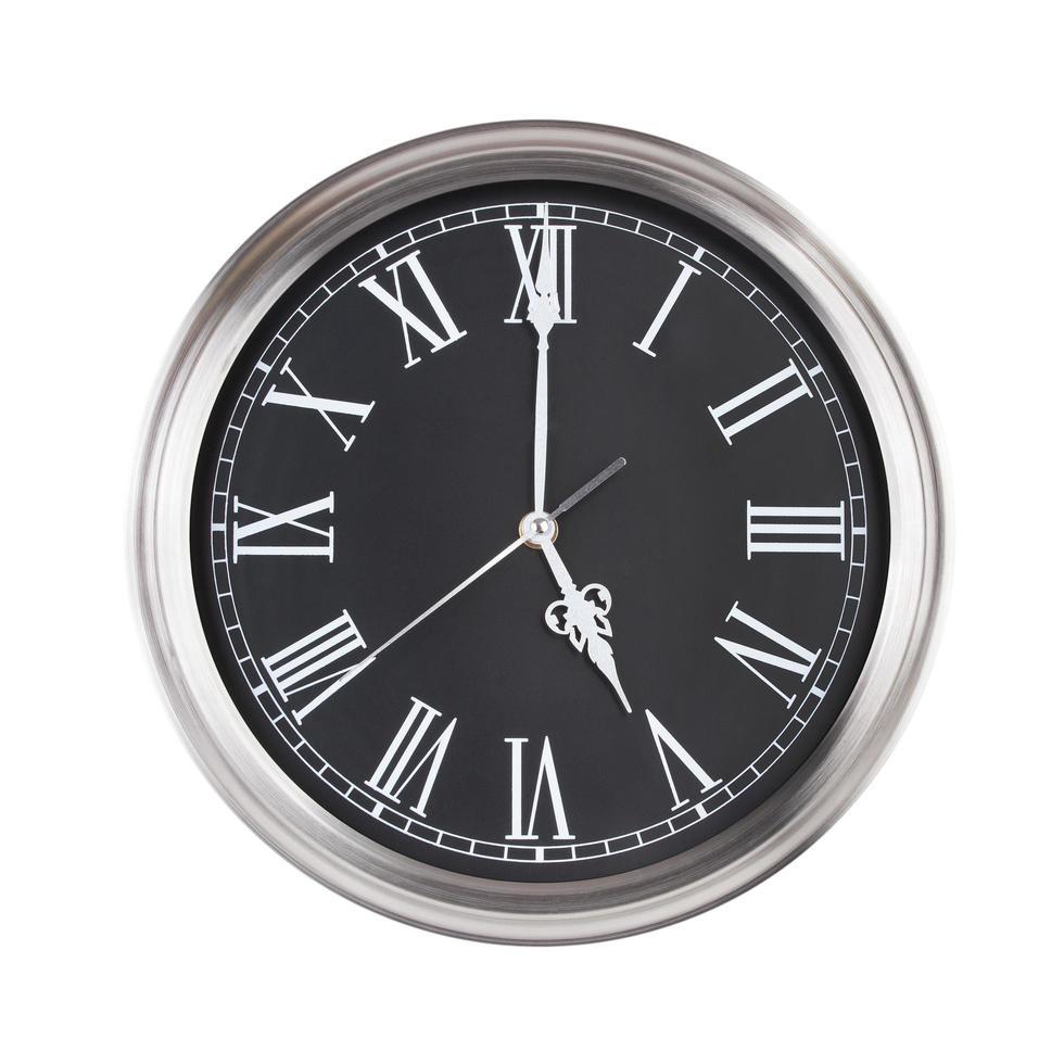 cinco horas en un reloj foto