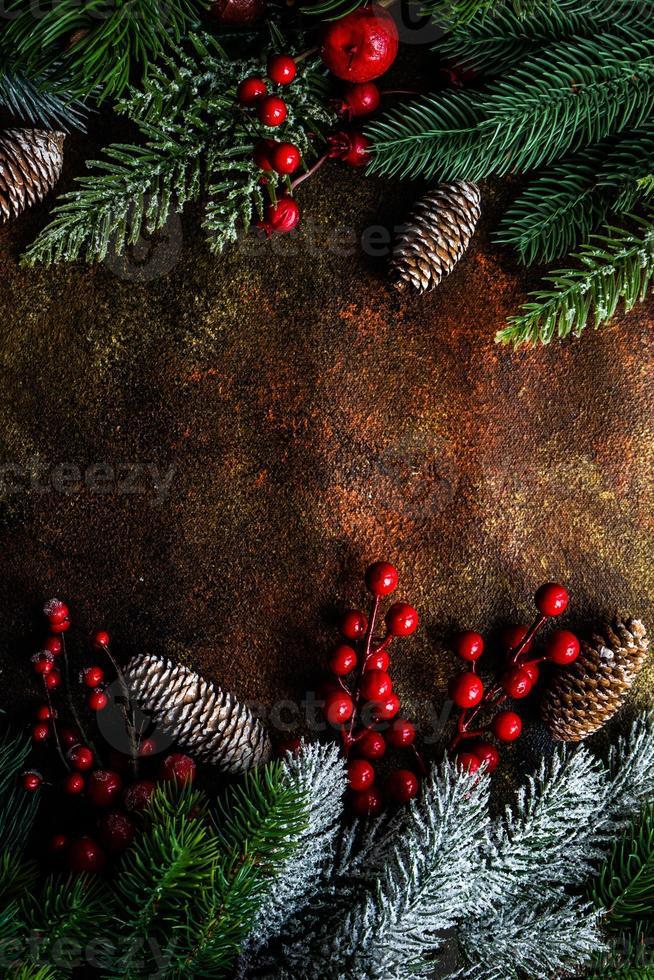 concepto de tarjeta de vacaciones de Navidad foto