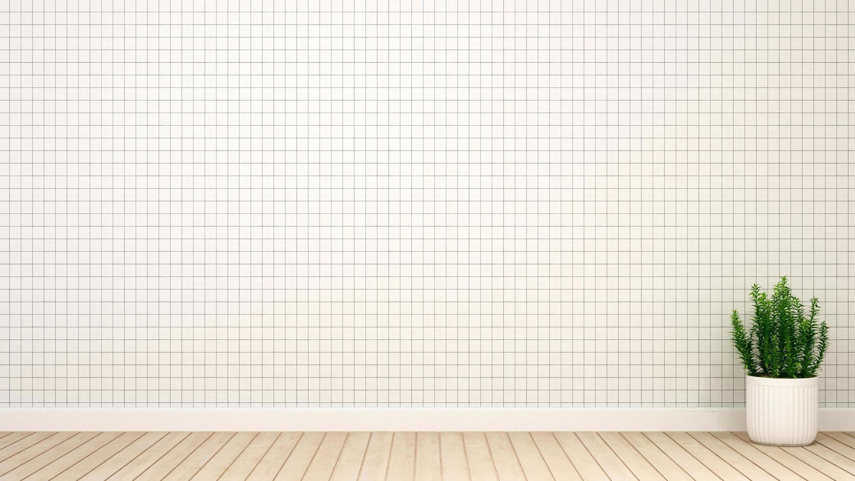 tono blanco de la habitación vacía para obras de arte foto