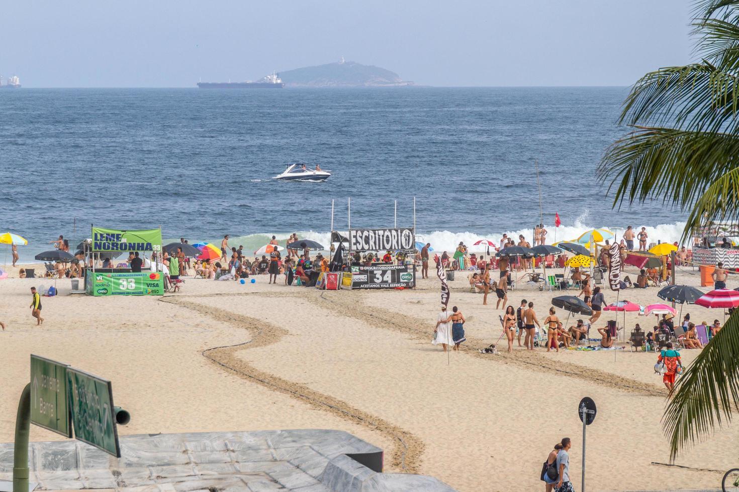 río de janeiro, brasil, 2015 - playa leme en copacabana foto