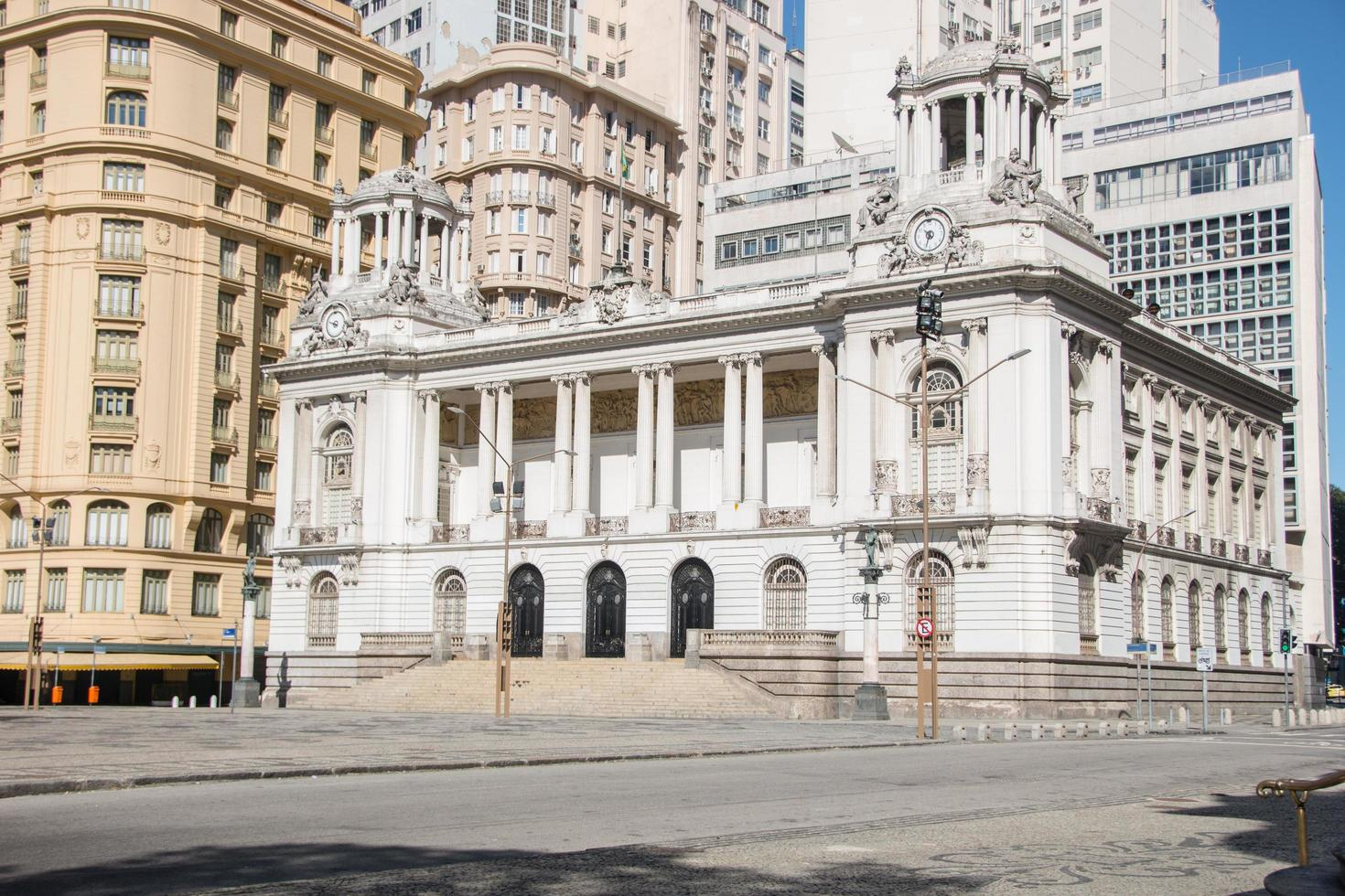 río de janeiro, brasil, 2015 - edificio del ayuntamiento de río de janeiro foto