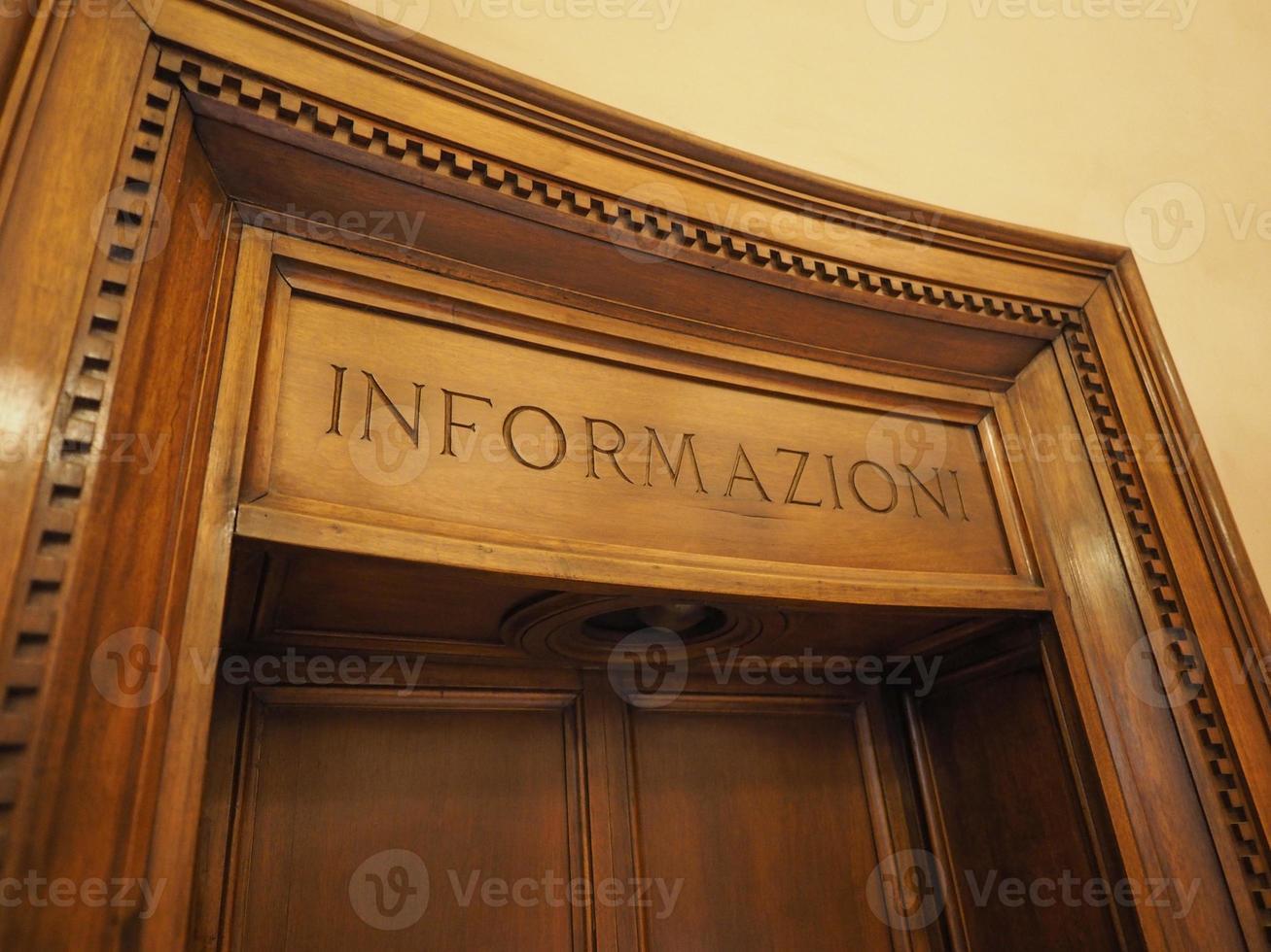 viejo cartel de información informazioni foto