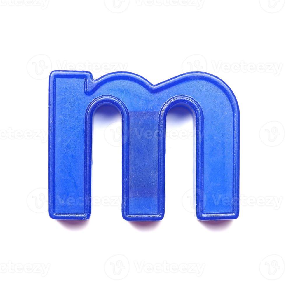 letra minúscula magnética m foto