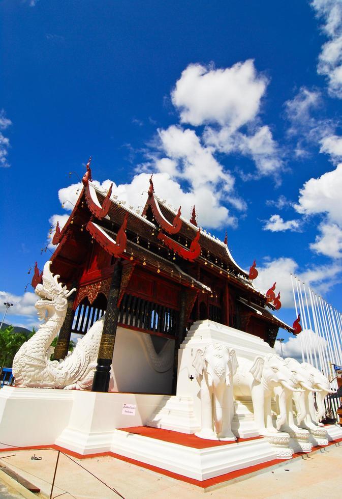 Royal flora ratchaphruek exposición internacional de horticultura para su majestad el rey en Chiang Mai, Tailandia foto