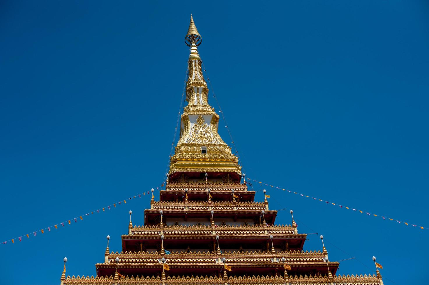 Templo en Tailandia Phra Mahathat Kaen Nakhon, provincia de Khon Kaen, Tailandia foto