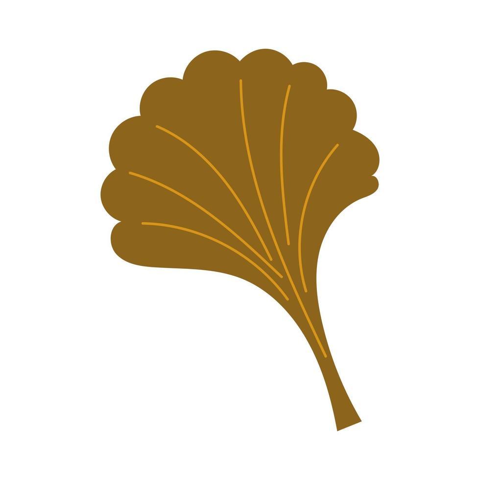 Autumn leaf fall . Ginkgo leaf vector clip art. Vector illustration