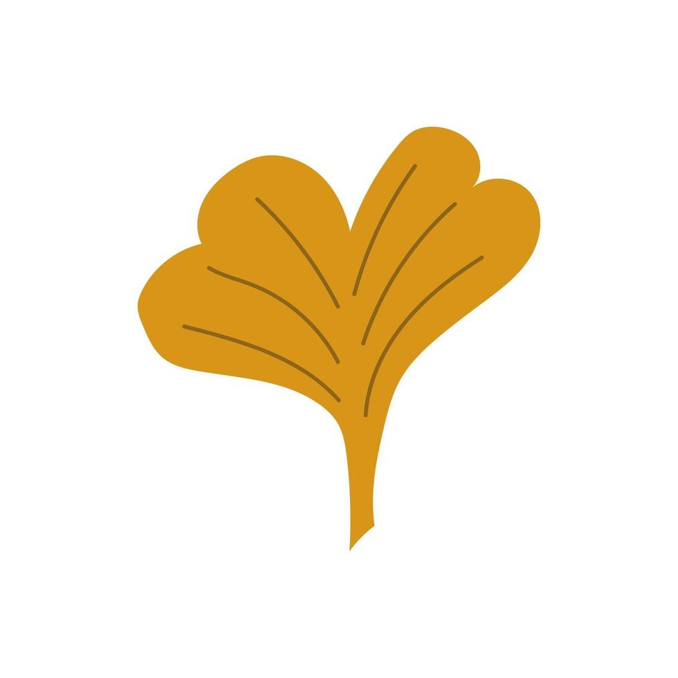 Yellow gingko leaves.gingko leaves flat style. Vector illustration