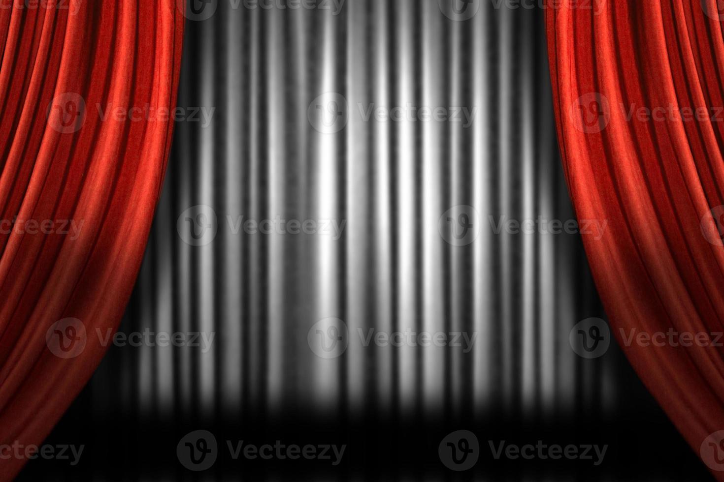 cortinas de escenario horizontales foto