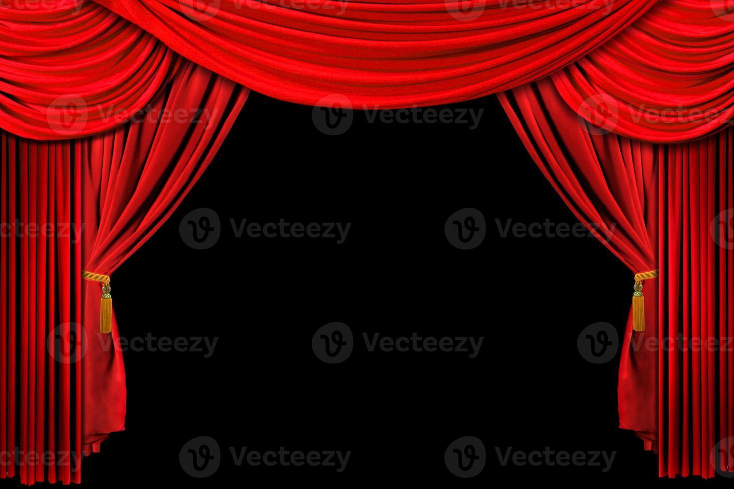 fondo de escenario drapeado rojo foto