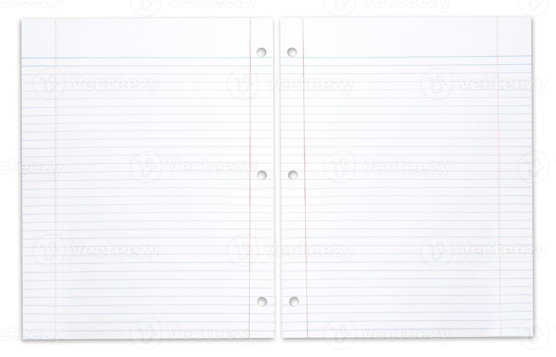 cuaderno escolar en espiral con papel rayado foto