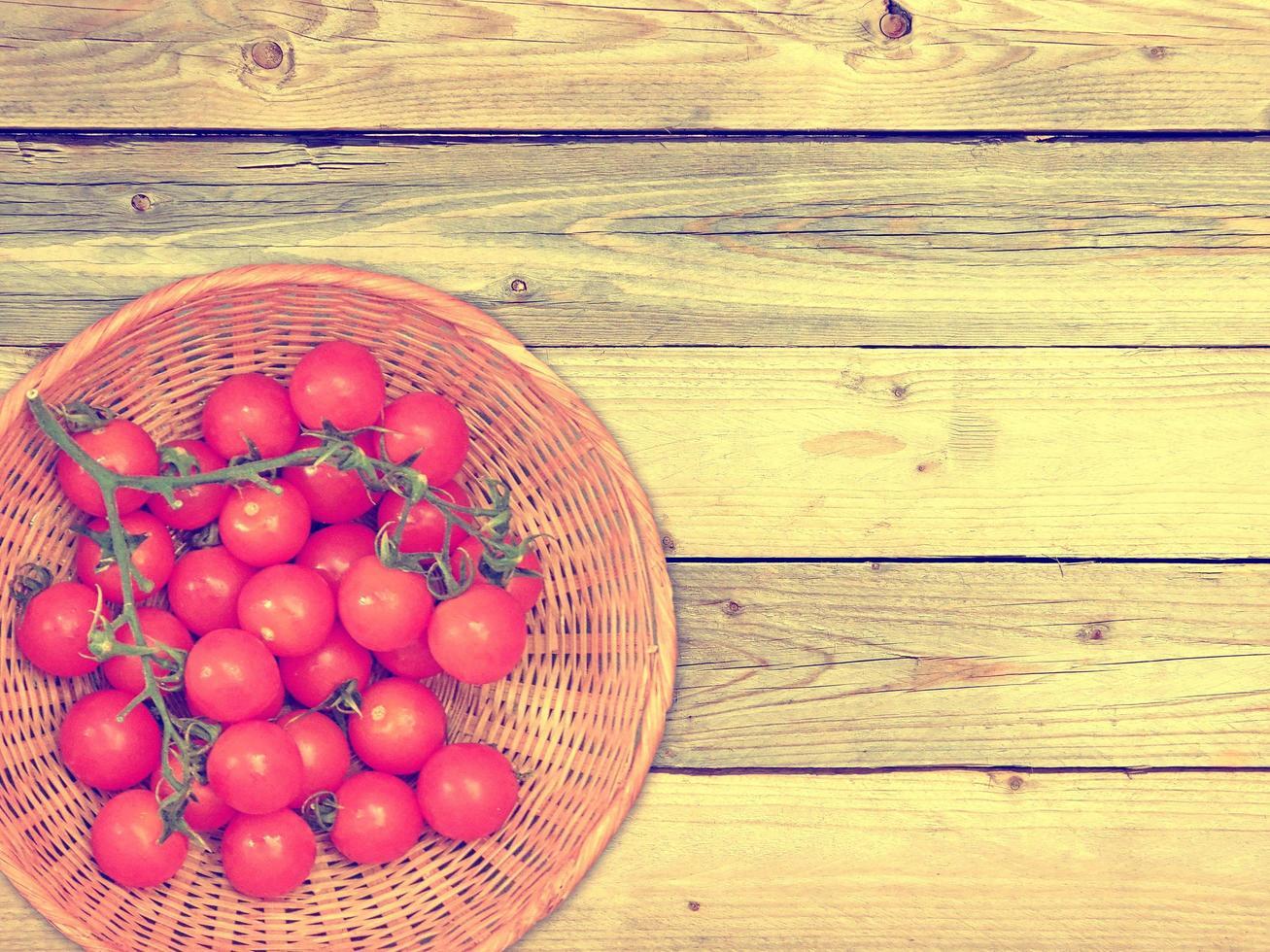 tomate al aire libre en el jardín foto