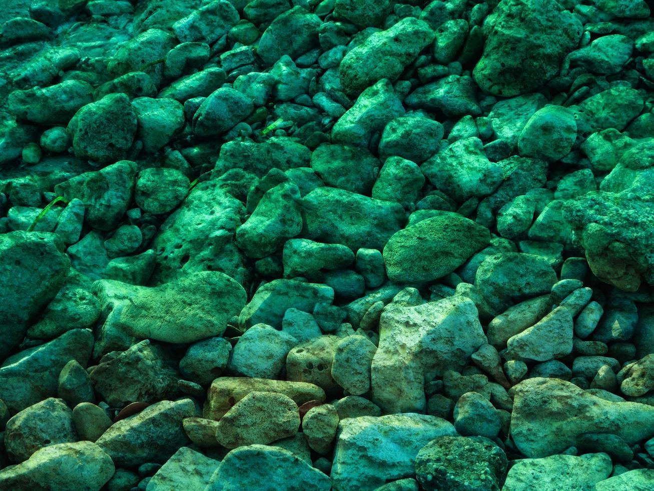 textura de piedra verde azulado foto