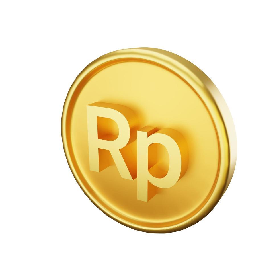 ilustración de moneda rupia foto
