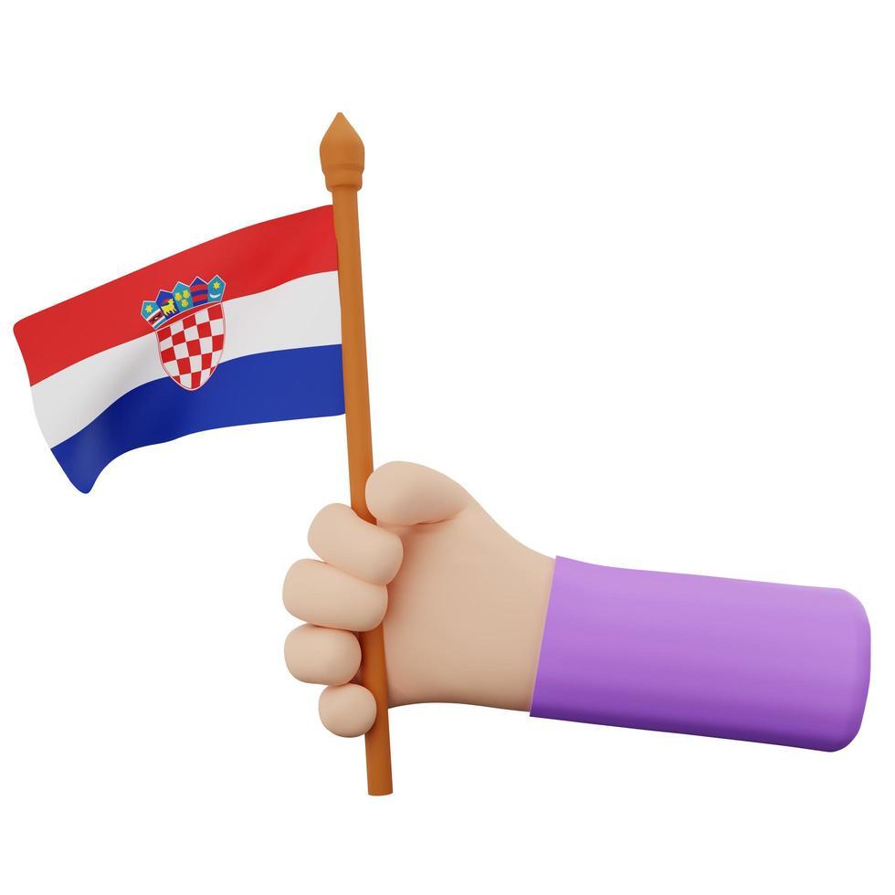 concepto del día nacional de croacia foto