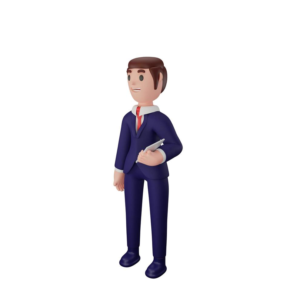 personaje con concepto de negocio foto