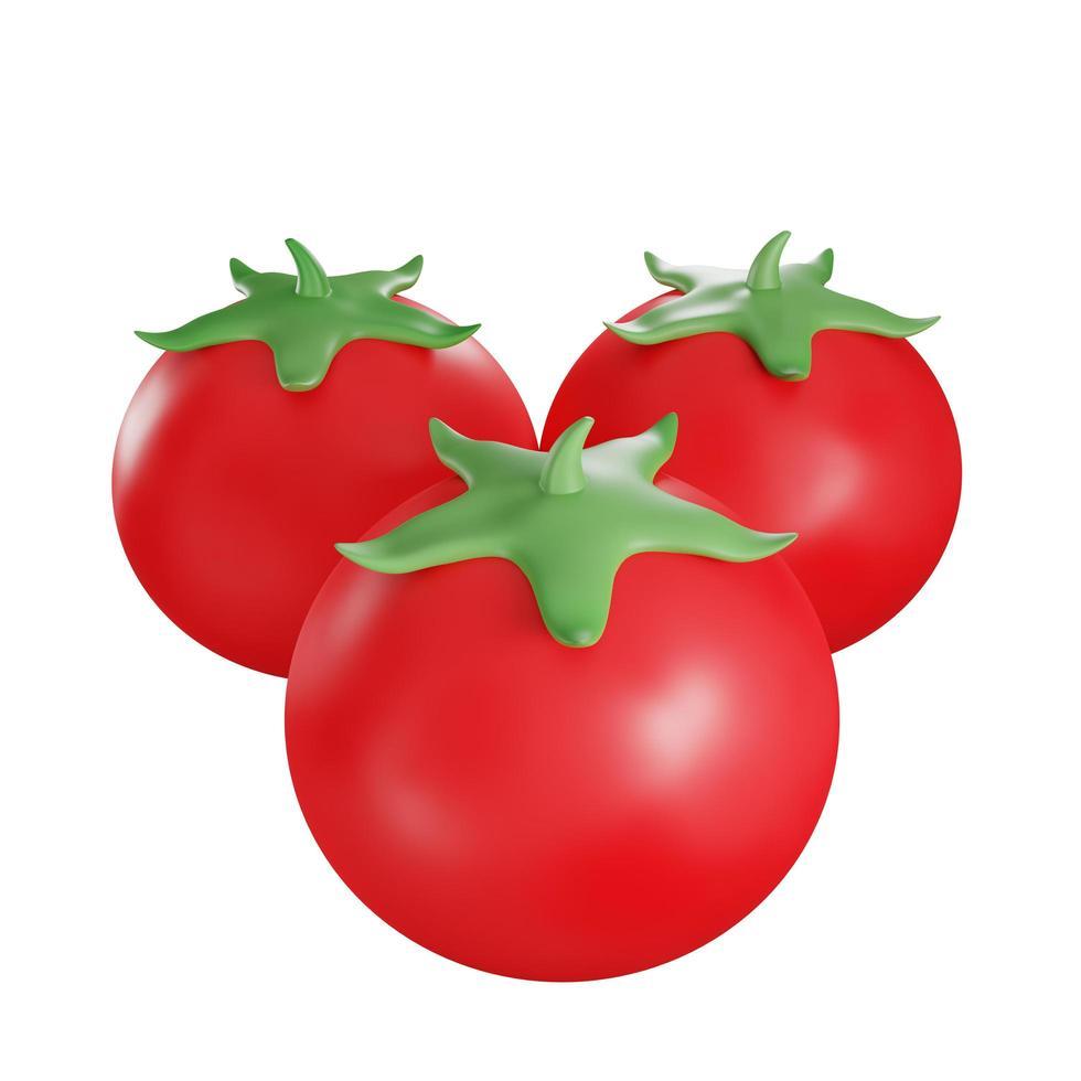 Ilustración de fruta de tomate foto