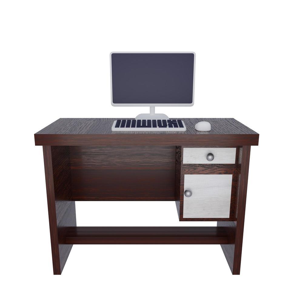 Ilustración de escritorio de trabajo foto