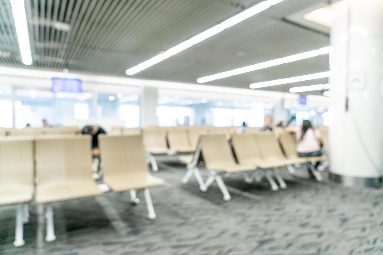 Desenfoque abstracto en el aeropuerto de fondo foto