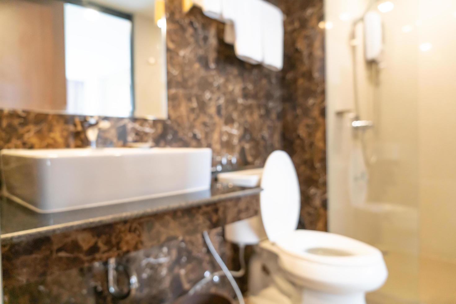 Baño y aseo de desenfoque abstracto para el fondo foto