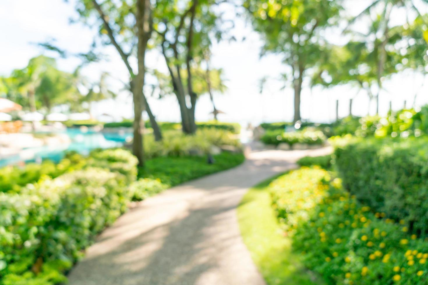 Resort de hotel de lujo de desenfoque abstracto para el fondo - concepto de vacaciones y vacaciones foto