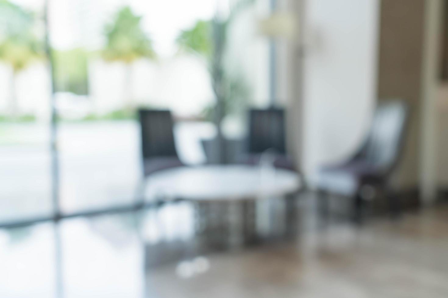 Desenfoque abstracto decoración de interiores de mesa y silla de lujo en la sala de estar foto
