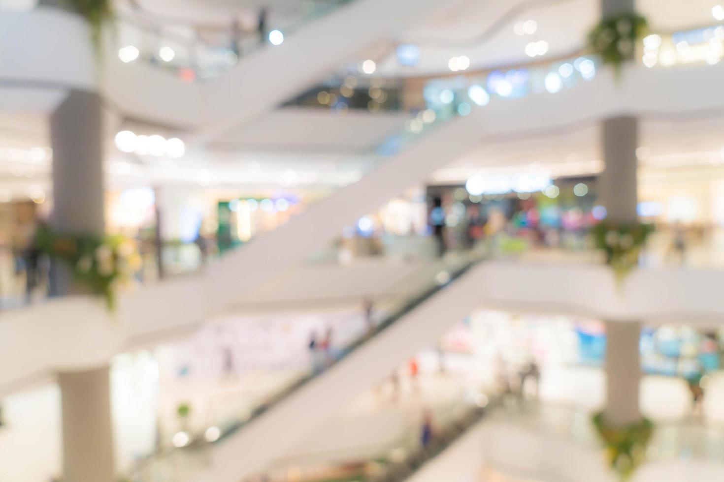 desenfoque abstracto hermoso centro comercial de lujo centro foto