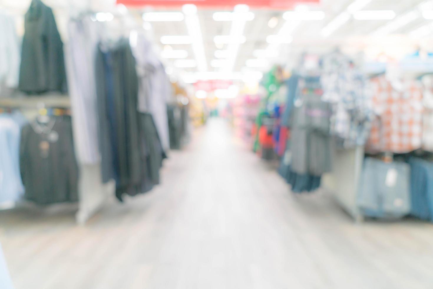 centro comercial borroso abstracto y el interior de la tienda minorista foto
