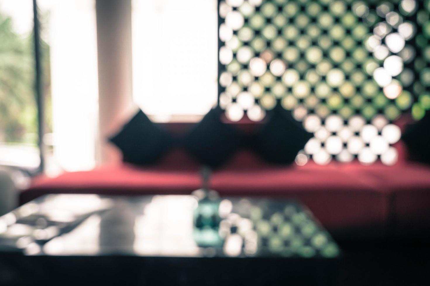 Interior borroso abstracto en hotel - filtro de efecto vintage foto